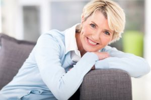 Beautiful older woman smiling