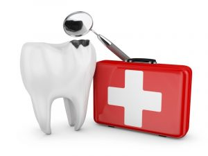 tooth and emergency bag